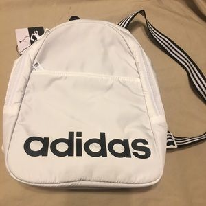 adidas Bags   Core Mini Backpack White Onesize   Poshmark 762ee6b7a6